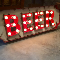 BEER MARQUEE SIGN