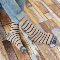 Happy Hip Hop Christmas Socks Men Casual Winter Warm Breathable Sokken harajuku Striped Pattern Cotton Long Sock 5 Colors
