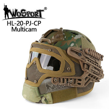 Hunting Sports Tactical Helmet Mask with Goggle