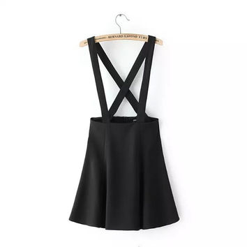Summer Women's Fashion Dress High Rise Slim One Piece Dress [5013334596]
