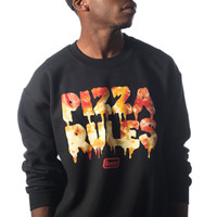 BOOGER KIDS Pizza Rules Crew Black