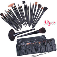 TOP Quality! Professional 32 PCS Cosmetic Facial Make up Brush Kit Wool Makeup Brushes Tools Set with Black Leather Case H4456-in Makeup Brushes & Tools from Beauty & Health on Aliexpress.com | Alibaba Group