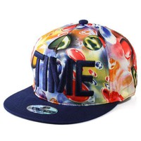 Korean Strong Character Water Droplets Embroidery Hip Hop Baseball Cap Hats [4989701700]