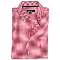 The Berner Button-Down in Samba Red by Johnnie-O