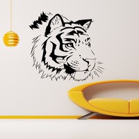Wall Decal Vinyl Sticker Wild Animal Predator Tiger Decor Sb467