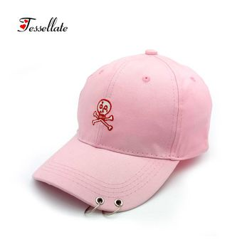 High Quality Unisex 100% Cotton Outdoor Baseball Cap Skull Embroidery
