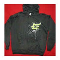 Panic! At The Disco Men's  Scribbles Zippered Hooded Sweatshirt Black