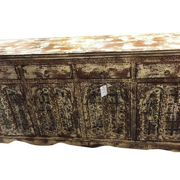 Vintage Sideboard / Antique Furniture / Rustic Wooden Furniture / Classic Indian Decor / antique doors / Solid wood