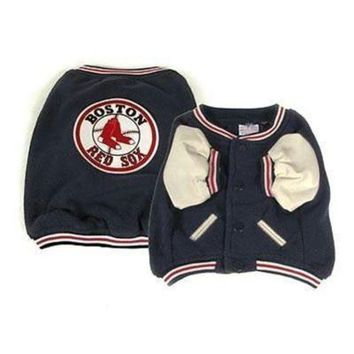 PEAPYW9 Boston Red Sox Varsity Dog Jacket