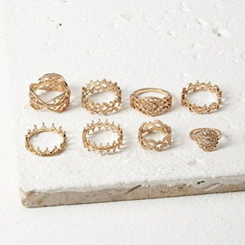 Filigree Midi Ring Set