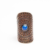 Tiger Mountain Womens Tribal Shield Ring