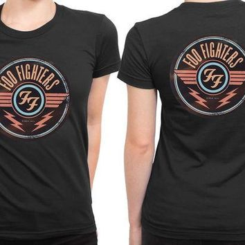 DCCKL83 Foo Fighter Logo Vintage And Retro Version 2 Sided Womens T Shirt