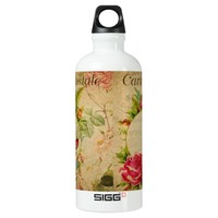 French Postcard Water Bottle