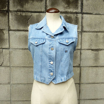 Jean vest Vintage 1990s Jordache Denim Light Blue