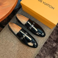 LV Louis Vuitton Men's Business Leather Shoes