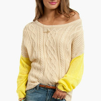 Neon My Sleeves Sweater
