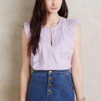 Les Cocotiers  Pippa Ruffled Tank in Lavender Size: