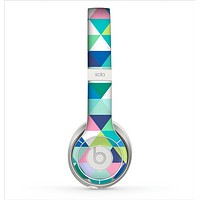 The Vibrant Fun Colored Triangular Pattern Skin for the Beats by Dre Solo 2 Headphones