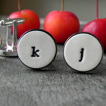 Personalized Cuff Links Wedding Monogrammed Lower Case Cuff Links Father of the Bride Gift Groom Best Man Groomsmen Custom Cuff Links