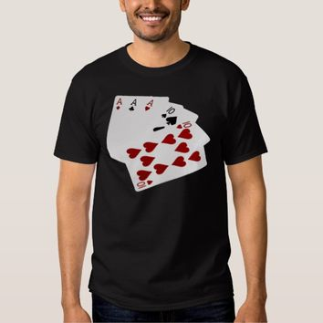 Poker Hands - Full House - Ace and Ten T-shirt