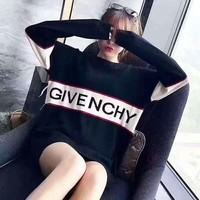GIVENCHY Fashion Print women man warm long sleeve sweater Sweatshirt Top I