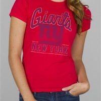 NFL Women's New York Giants Kickoff Crew T-Shirt