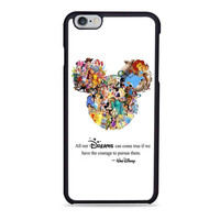 Walt Disney Quote case Mickey Mouse case Character Montage Iphone 6 Case