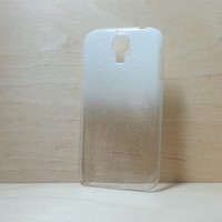 3D Water Droplets Hard Plastic Case for Samsung Galaxy S4 - White