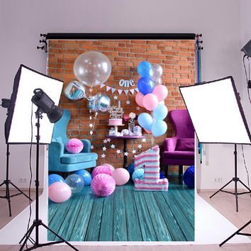Sweet Birthday Photography Background Cloth 210X150cm Studio Photo Prop Backdrops Baby 1st Birthday Party DIY Decoration