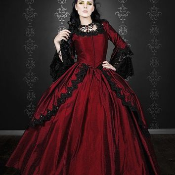 Gothic Silk Marie Antoinette Fantasy Gown Your by RomanticThreads