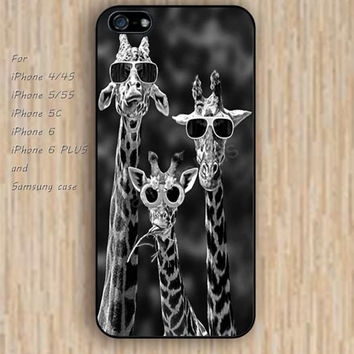 iPhone 6 case colorful giraffe wearing glasses iphone case,ipod case,samsung galaxy case available plastic rubber case waterproof B049