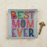 Best Mom Ever Glass Tray