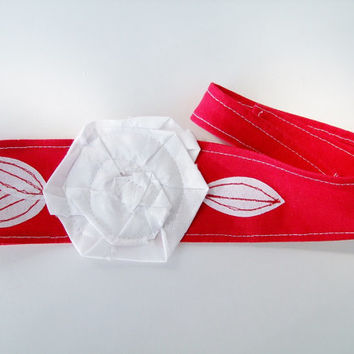 Red, White Headband, Indiana University, Hoosiers, School Team Colors