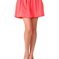 Coral Reef Pleated Skirt