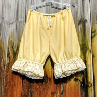 Soft buttery yellow knee length bloomers