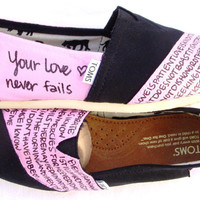 The Eisley  Light Pink and Black Custom TOMS by FruitfulFeet