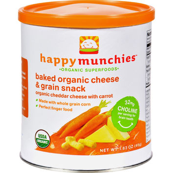 Baked Organic Snacks - Cheddar Cheese with Carrots - Case of 6