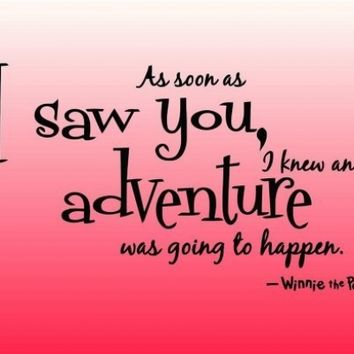 Design with Vinyl Design 204 As Soon As I Saw You Winnie The Pooh Quote Home Decor Sticker, 15-Inch By 20-Inch, Black