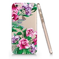 Floral Pattern Iphone 6 case, Iphone 6 Case Slim White Cover Skin (4.7'' Screen) (LA028)