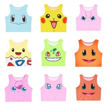 Pokemon Face Crop Top Tank
