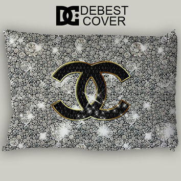 Chanel Glitter Design Pillow Case In 20 x 30 Inches