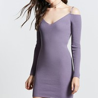 Contemporary Ribbed Knit Dress