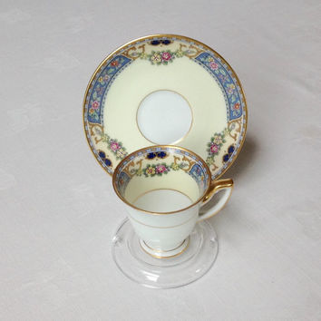 Demitasse Cup and Saucer Queen Louise Bone China 1930s