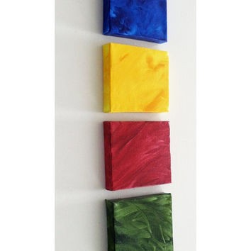 Boy's Room Decor - Baby Boy's Room Decor - Little Boy's Room Decor - Mini Canvas Art Square 4x4