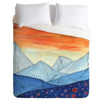Viviana Gonzalez Lines in the mountains III Duvet Cover | DENY Designs Home Accessories