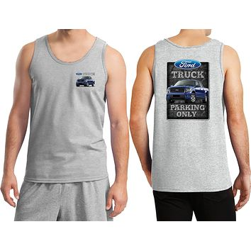 Ford Truck Tank Top Parking Sign Front and Back