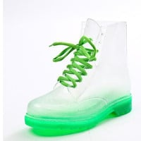 Women Rain boots Clear Crystal Jelly Women Rainboot