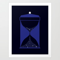 Through time and space Art Print by Citron Vert