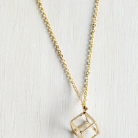 Minimal Cube and Me Together Necklace by ModCloth