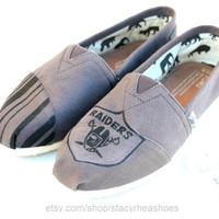 Oakland Raiders TOMS Football by StacyRheaShoes on Etsy